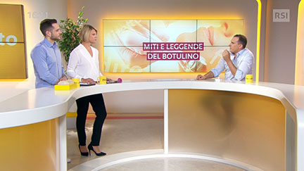 Dr. Matteo Malacco, FMH specialist in plastic reconstructive and cosmetic surgeon, at Filo diretto on RSI Radiotelevisione svizzera.