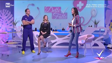 Liposuction explained by Dr. Matteo Malacco - Rai 2 TV, Detto Fatto, 15/02/17
